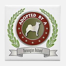 Buhund Adopted Tile Coaster