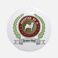 Buhund Adopted Ornament (Round)