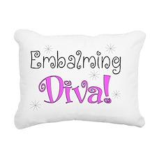 embalming diva pink Rectangular Canvas Pillow