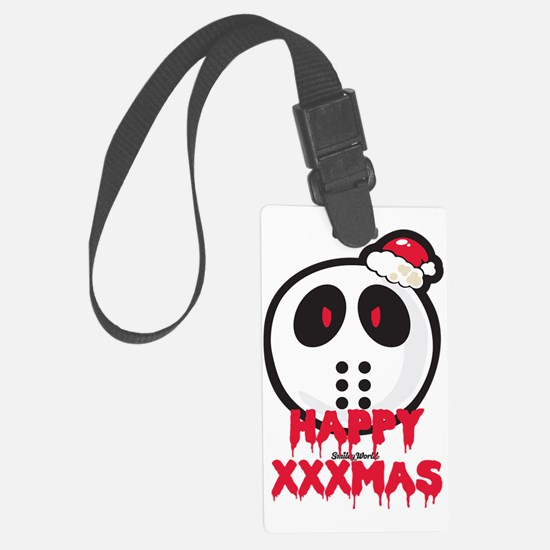 Happy Slashmas Large Luggage Tag