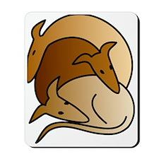 Three sighthounds Mousepad