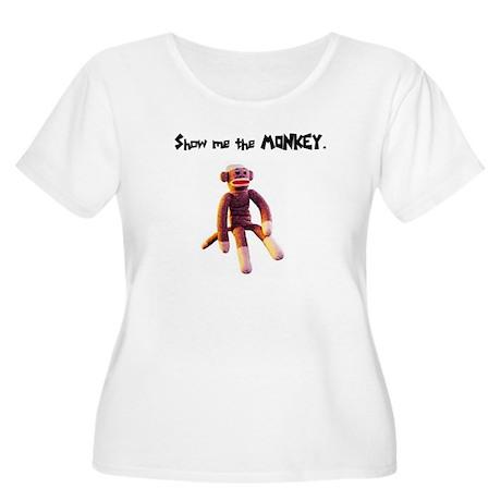 Show Me The Monkey Women's Plus Size Scoop Neck T-