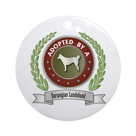 Lundehund Adopted Ornament (Round)