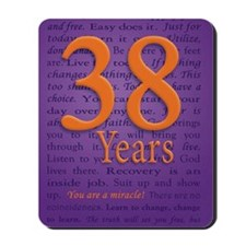38 Year Recovery Birthday Mousepad