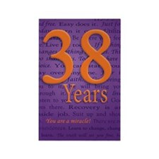 38 Year Recovery Birthday Rectangle Magnet