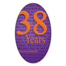 38 Year Recovery Birthday Decal