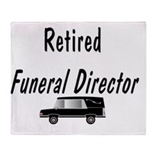 Retired Funeral director HEARSE Throw Blanket