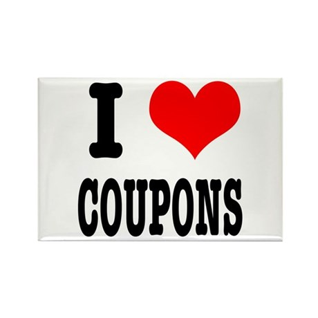 I Heart (Love) Coupons Rectangle Magnet