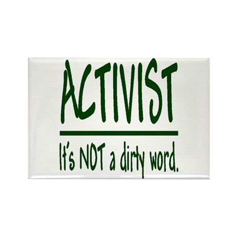 """Activist"" Rectangle Magnet (100 pack)"