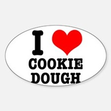 I Heart (Love) Cookie Dough Oval Decal