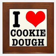 I Heart (Love) Cookie Dough Framed Tile