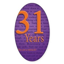 31 Year Recovery Birthday Decal