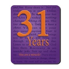 31 Year Recovery Birthday Mousepad