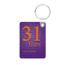 31 Year Recovery Birthday Keychains