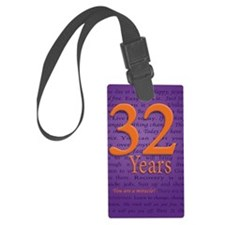 32 Year Recovery Birthday Luggage Tag