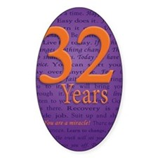 32 Year Recovery Birthday Decal
