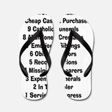 12 days of funeral home Flip Flops