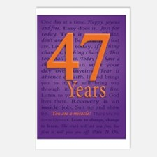 47 Year Recovery Birthday Postcards (Package of 8)