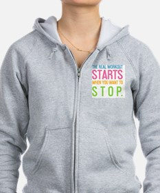 card The real workout starts Zip Hoodie
