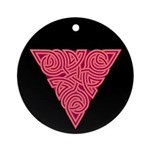 Pink Triangle Knot Ornament (Round)
