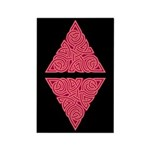 Pink Triangle Knot Rectangle Magnet (100 pack)