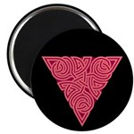 "Pink Triangle Knot 2.25"" Magnet (100 pack)"