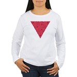 Pink Triangle Knot Women's Long Sleeve T-Shirt