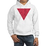 Pink Triangle Knot Hooded Sweatshirt
