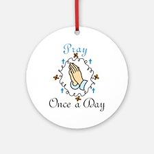 Pray Round Ornament