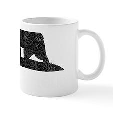 California Republic Grunge Bear Small Mug