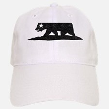 California Republic Grunge Bear Baseball Baseball Cap