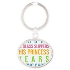card Forget the glass slippers Oval Keychain