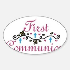 First Commuinion Sticker (Oval)