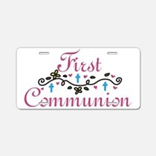 First Commuinion Aluminum License Plate