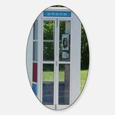 Phone Booth Sticker (Oval)