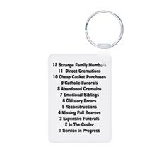 12 days of funeral home Keychains