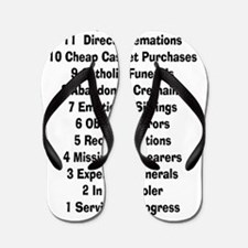 12 days of funeral home Flip Flops