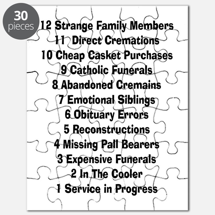 12 days of funeral home Puzzle