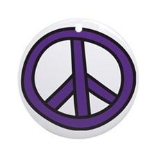 Peace Sign Round Ornament