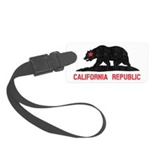California Republic Grunge Bear Luggage Tag