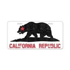 California Republic Grunge  Aluminum License Plate