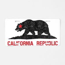 California Republic Grunge  Aluminum License Plate