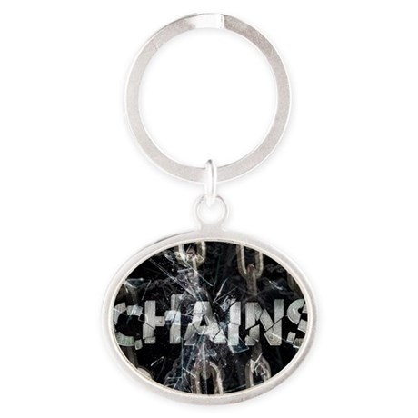 Chains Oval Keychain