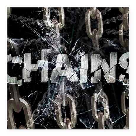 "Chains Square Car Magnet 3"" x 3"""