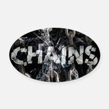 Chains Oval Car Magnet