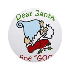 Dear Santa Round Ornament