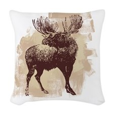 Moose Woven Throw Pillow