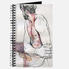 Watercolor male figure Journal