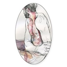 Watercolor male figure Decal