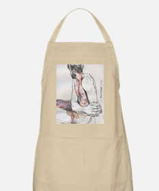Watercolor male figure Apron